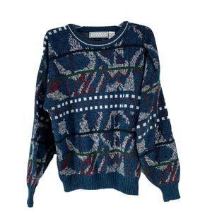 Michael Gerald Mens Multicolor Pattern  Sweater XL